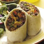 Three-Pepper Beef Wraps
