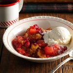 Classic Apple Cranberry Crisp