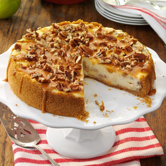 North Dakota: Caramel Apple Cheesecake