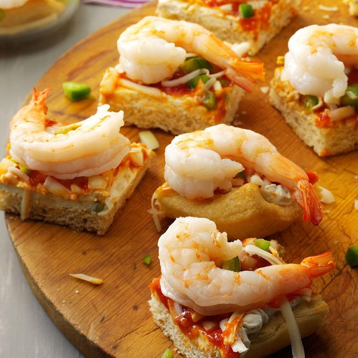 New Year's Eve Appetizer: Shrimp Lover Squares