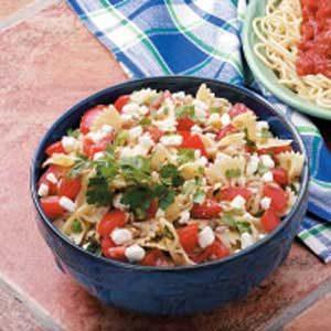 Tomato-Feta Bow Ties