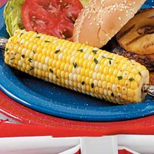Grilled Honey-Ginger Corn