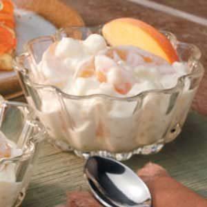 Creamy Peach Pudding