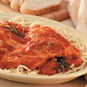 Chicken with Garlic-Tomato Sauce