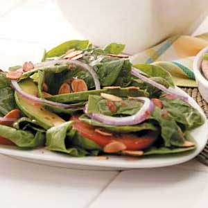 Almond Spinach Salad