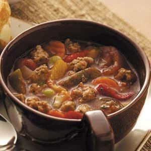 Hot Italian Sausage Soup