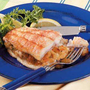 Crab-Stuffed Catfish