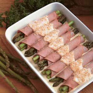 Asparagus Ham Rolls