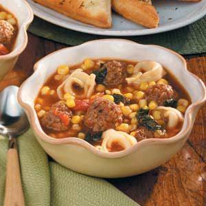 Meatball Tortellini Soup