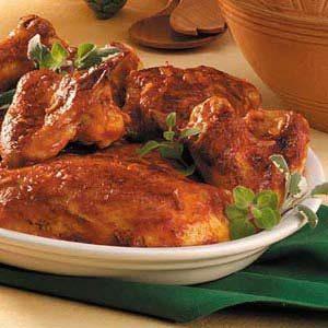 Juicy Barbecued Chicken