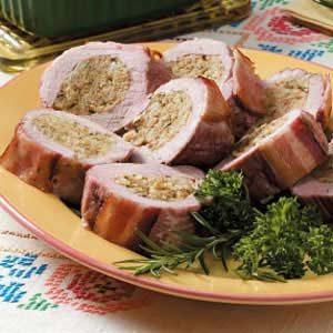 Tender Stuffed Pork Tenderloin