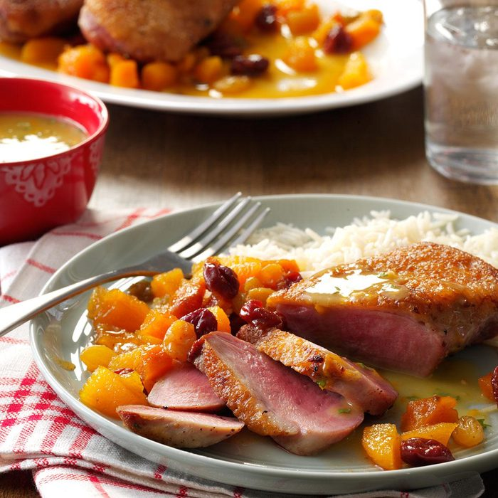 Duck Breasts with Apricot Chutney
