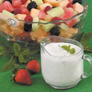 Mint Dressing For Fruit