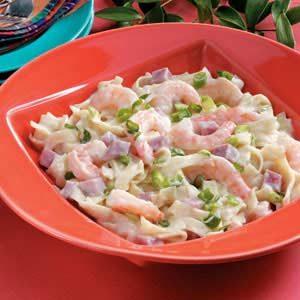 Shrimp and Ham Alfredo