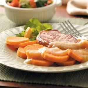 Pork Chops with Sweet Potato