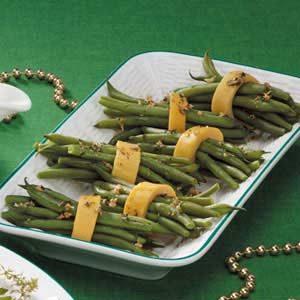 Garlic Green Bean Bundles