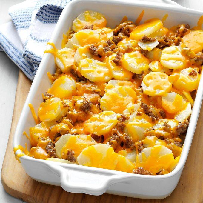 Cheesy Sausage Potatoes