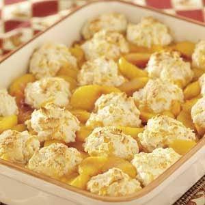 Cheddar-Biscuit Peach Cobbler