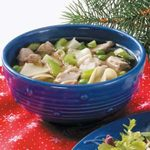 Turkey Noodle Soup for Two
