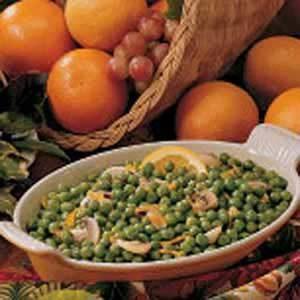 Orange Buttered Peas