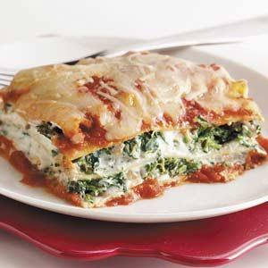 Tofu Spinach Lasagna