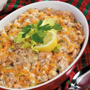 Salmon Rice Puff