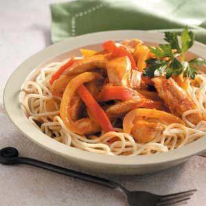 Chicken Fajita Spaghetti