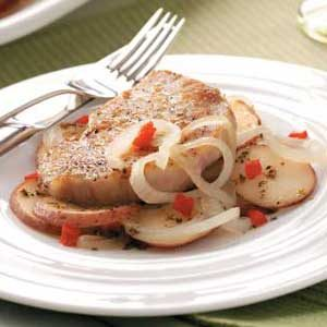 Potato and Pork Skillet