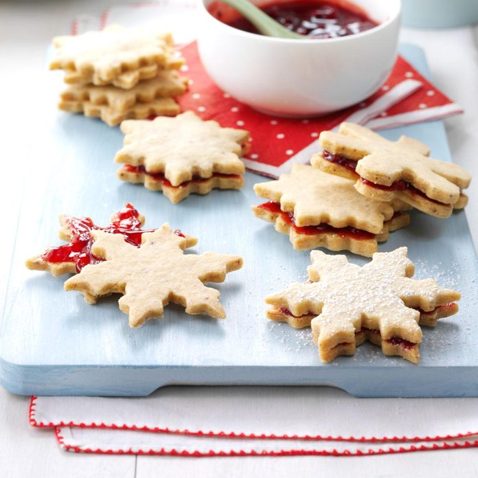 Berry-Almond Sandwich Cookies