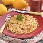Lemon Scallop Linguine
