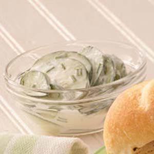 Cucumbers in Sour Cream