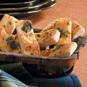 Basil-Cheese Bread Strips