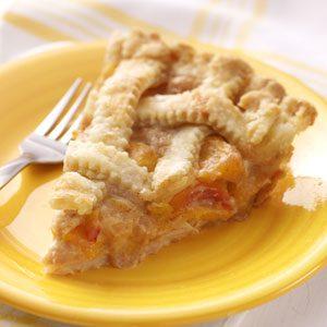 Peaches 'n' Cream Lattice Pie