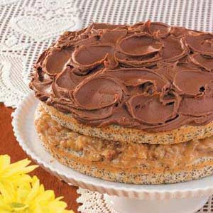 Nutty Poppy Seed Torte with Creamy Mocha Frosting