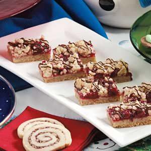 Chocolate-Drizzled Cherry Bars