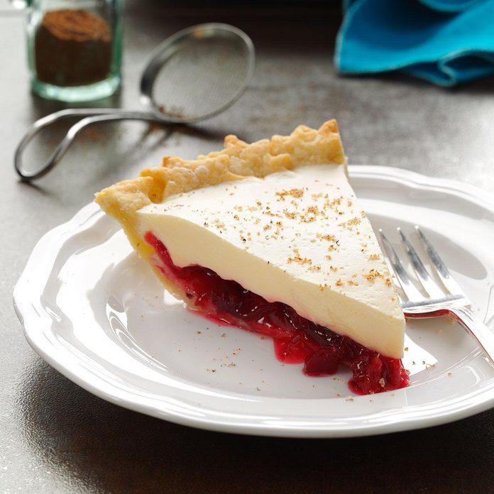 Day 10: Eggnog Cranberry Pie