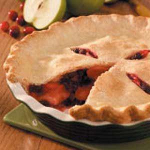 Cran-Apple Raisin Pie