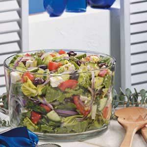 Greek Lettuce Salad