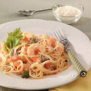 Sunday Shrimp Pasta Bake