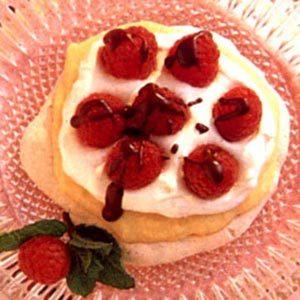 Raspberry Custard Meringue