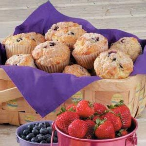 Crumb-Topped Blueberry Muffins
