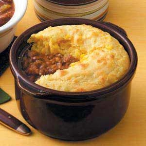 Chili with Cornbread Topping
