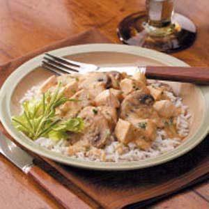 Creamed Chicken and Mushrooms