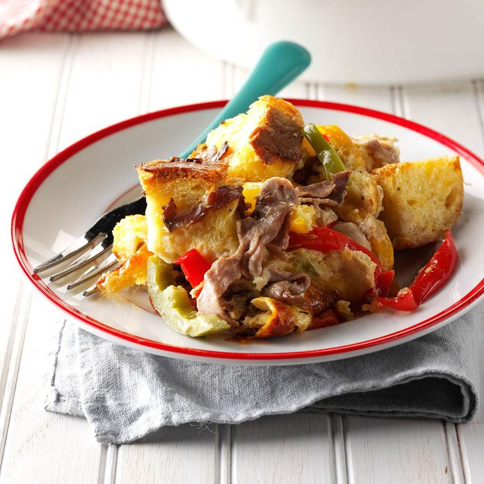 Philly Beef 'n' Pepper Strata