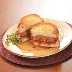 Italian Meat Loaf Sandwiches