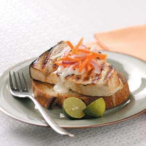 Open-Faced Swordfish Sandwiches