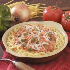 Ground Turkey Spaghetti Pie