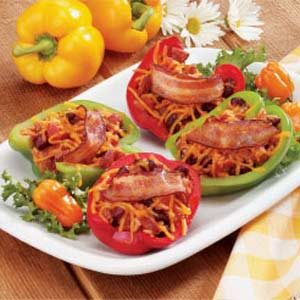Smoked Sausage-Stuffed Peppers