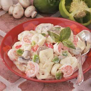 Creamy Shrimp Tortellini