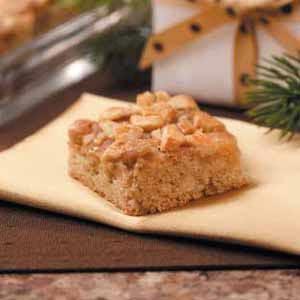 Caramel-Cashew Cake Bars